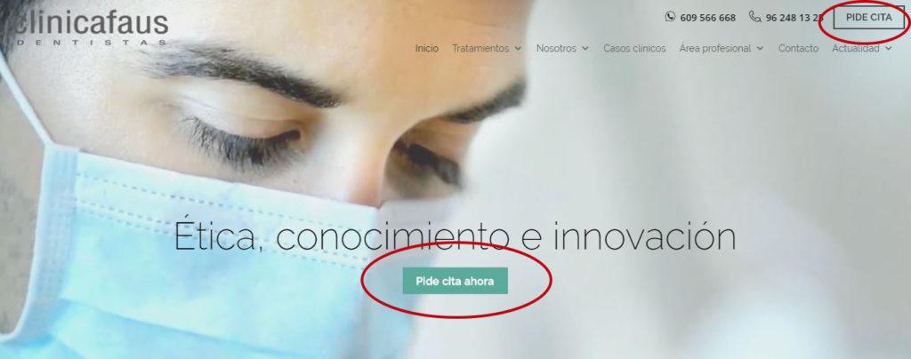 Pide cita online en clinica faus