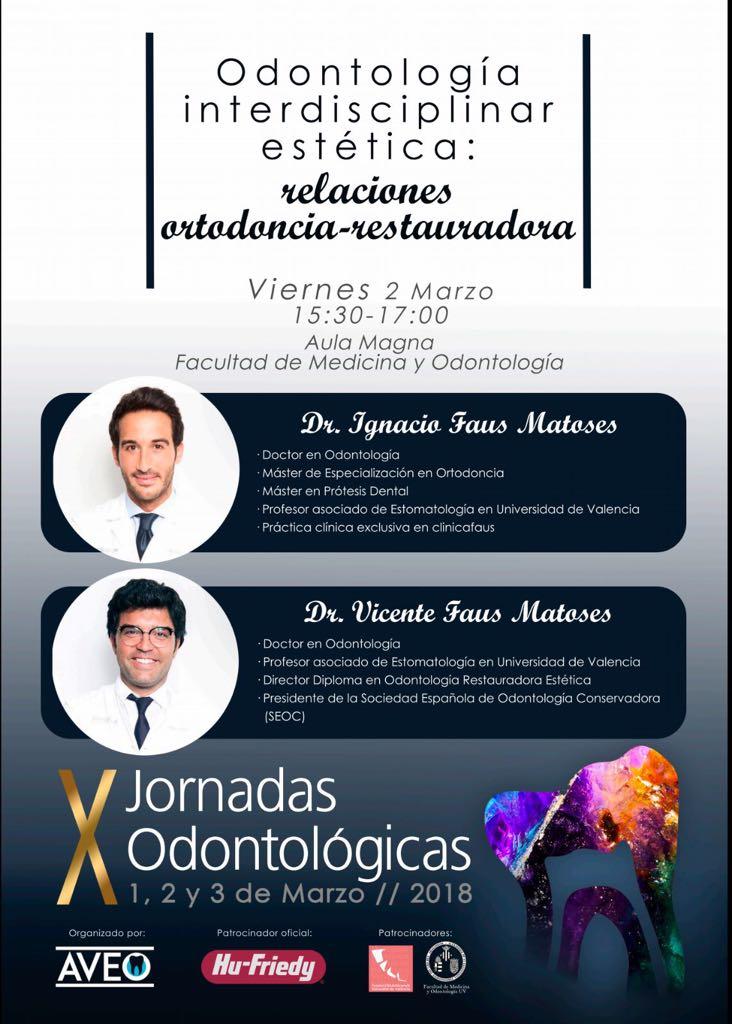 Los doctores faus participan en las X Jornadas Odontológias